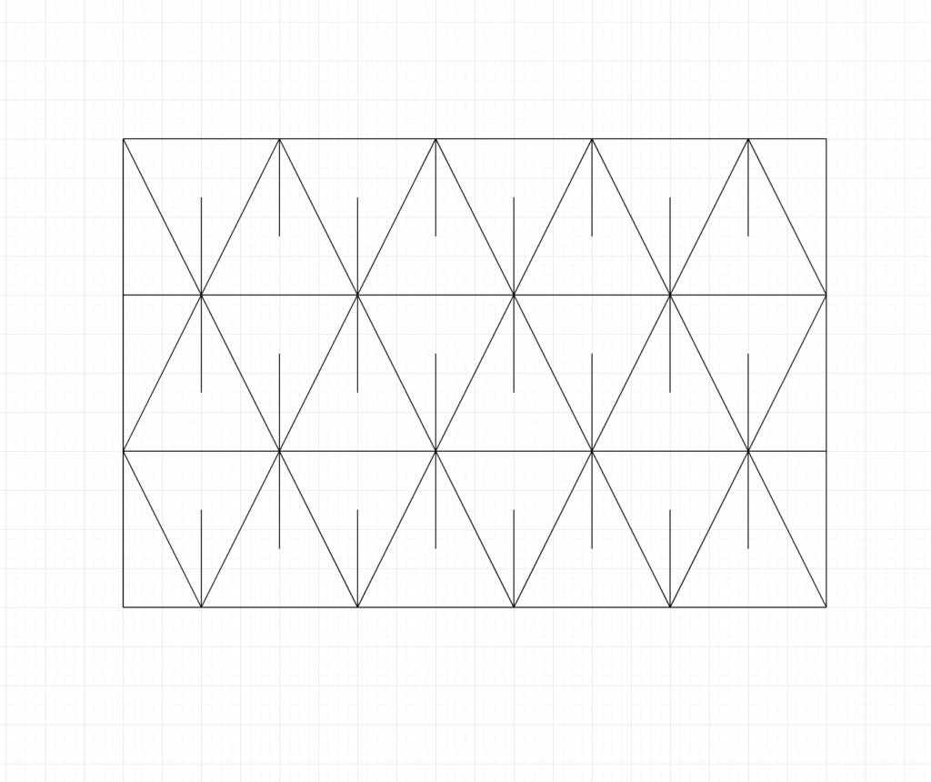 Asanoha Sashiko Pattern Step.3