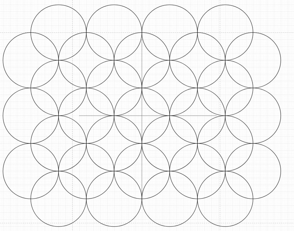 Shippou Sashiko Pattern Step.3
